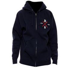REBEL8 Raising hell zip hood navy R803601201