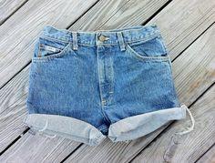 Vintage LEE Jean Shorts  HIGH Waist  Jean Shorts by TomieHarlene, $18.00