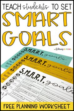 Teach students how to set SMART goals with this goal-setting worksheet. Provide students with the tools necessary for accomplishing their goals. Use a graphic organizer to help students develop and implement SMART goals. Middle School Classroom, Future Classroom, Education College, Special Education, Kids Education, Physical Education, Primary Education, Music Education, Education Galaxy