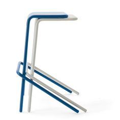 designer: Todd Bracher manufacturer: Cappellini Striking a perfect equilibrium between the tubular base and steel seat, Todd Bracher's Alodia distills stooldom down to linear harmony. | Dwell