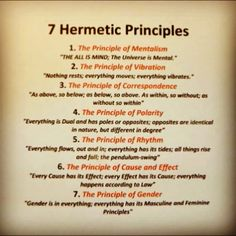 7 hermetic principles - World Religions by Mind&Soul Society