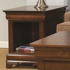Occasional Tables Durham Louis Phillipe End Table with Open Storage Space by Durham - Galeries Acadiana - End Table Lafayette, Youngsville, New Iberia, Broussard, Carencro, Scott, LA