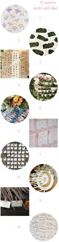 10 Awesome Wedding Escort Card Ideas