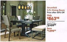 Hot Ashley Furniture Black Friday Deal! Ashley Furniture has Strumfield 5-Piece Dining Room Set for $863.98  Additional Info  Category: Dining Room Furniture