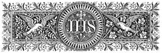 """The name """"Jesus"""", in Greek, is written ιησους , transliterated as """"ihsous"""" and pronounced iēsous. However, in Hebrew, the name """"Jesus"""" is written ישוע which is transliterated as """"yeshu'a"""" and pronounced yeshūa.Finally, in Latin, the Holy Name is written Iesus which gives us the English """"Jesus""""). The insignia """"IHS"""" comes from the Latinized version of the Greek ιησους, [ In Greek capitals this would be ΙΗΣΟΥΣ or IHSOUS in Latin letters] taking the first three letters in capitals IHS(ous)."""