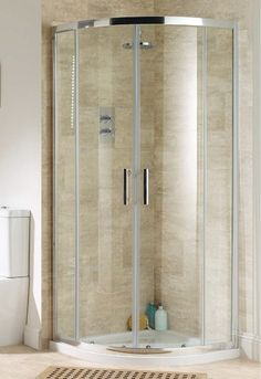 quadrant shower tiled - Google Search Small Bathroom, Bathroom Ideas, Quadrant Shower, Number 10, Tall Cabinet Storage, Divider, Google Search, Furniture, Home Decor