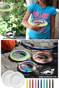 Cool diy frisbee from paper plates art бумажные тарелки, под Crafts For Kids To Make, Fun Crafts For Kids, Preschool Crafts, Easy Crafts, Preschool Christmas, Kids Fun, Christmas Crafts, Paper Plate Art, Paper Plate Crafts