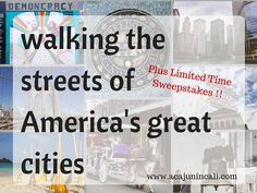 Let's go walking the streets of America's great cities! Click here to read my favorite attractions in 10 US cities. Plus enter to win a free walking tour!