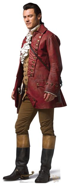 """GASTON Cardboard Cutout Standup / Standee from Disney's """"Beauty and the Beast (2017)""""   Luke Evans   72"""" H x 26"""" W   FREE Shipping"""