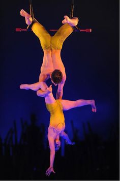 """From Today's Life Line """"ACTIVE FAITH"""" at the Cafe . .    """"acrobats who performed up to 90 feet above the platform without safety ropes . . . amazing feats stunned the audience who realized that the very life and safety of these performers was secured by an amazing commitment to """"never let go"""" of each other.. . . """"   http://www.lifelettercafe.com/life-lines/january7-activefaith.htm"""