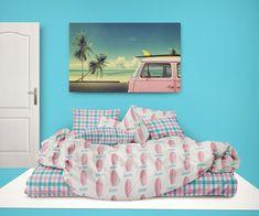 Surfer Bedding™ Pink Surfboards and Preppy Beach Stripes Comforter Set Toddler Comforter Sets, Queen Size Comforter Sets, Beach Bedding Sets, Queen Size Duvet Covers, Cheap Bedding Sets, Bedding Sets Online, Duvet Cover Sets, Preppy Bedding, Pink Bedding