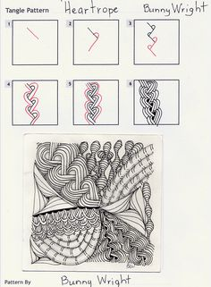 How to draw HEARTROPE « TanglePatterns.com