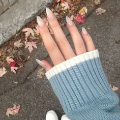 36 Natural Nails Design Ideas For Long Almond Nails - Suitable Fashion Ideas for You Stiletto Nails, Glitter Nails, Coffin Nails, Cute Nails, Pretty Nails, Hair And Nails, My Nails, Fall Nails, Summer Nails