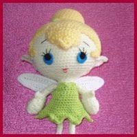 Ravelry: Amigurumi Tinker Bell Crochet Pattern pattern by Berry Goblinfly Hereford Bruzdowski Crochet Baby Toys, Crochet Toys Patterns, Knit Or Crochet, Amigurumi Patterns, Crochet Animals, Crochet For Kids, Crochet Dolls, Afghan Patterns, Crochet Disney