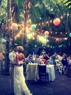 """Christopher & Amy getting married at the Old Town Manor in Key West, FL on 8/8/13."""