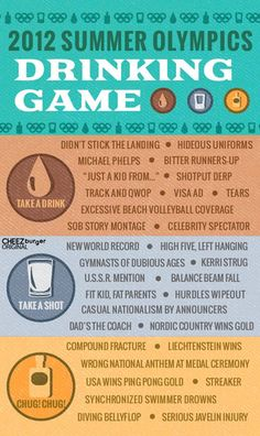 Olympic Drinking Game hahhaa my mom pinned this for me...thanks @cody_munroe_handrigan