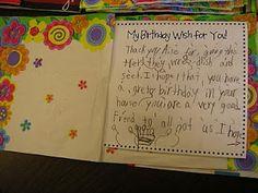 Birthday Books...Fabulous idea!!