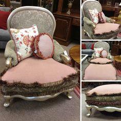 Henredon - Silver/Gold Wood Trim Chair - $449.95