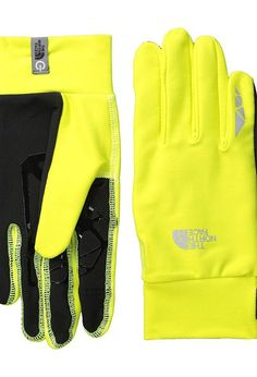 The North Face Runners 1 Etip Glove (Sulphur Spring Green) Extreme Cold Weather Gloves - The North Face, Runners 1 Etip Glove, A6N3JE3, Accessories Gloves Extreme Cold Weather, Extreme Cold Weather, Gloves, Accessories, Gift, - Fashion Ideas To Inspire