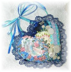 Cute crazy quilt heart