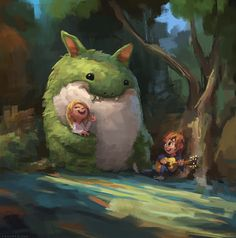 Cute and adorable art by zac retz #apaintingeveryday on Behance