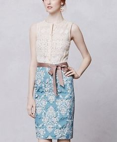Spencer Hastings Floral Lace Dress. Anthropologie - Lasercut Fleur-De-Lys Sheath. Pretty Little Liars Fashion, Dresses, Outfits. Shop it http://www.pradux.com/anthropologie-lasercut-fleur-de-lys-sheath-21394?q=s15