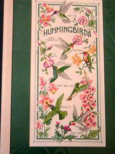 RARE Sunset The Hummingbird Society Counted Cross Stitch Kit NIP | eBay