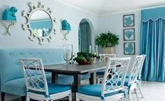 Image result for blue themed dining room