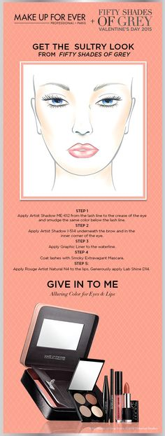 Learn step-by-step how to get the Sultry Look from MAKE UP FOREVER + Fifty Shades of Grey #makeupforevver