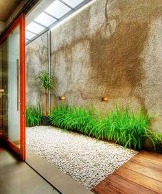 interior pequeño Small Backyard Design Idea To Beautify Your Environment 20 Railing Design, Fence Design, Garden Design, House Design, Design Design, Large Backyard Landscaping, Small Backyard Design, Indoor Garden, Home And Garden