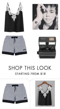 """""""Stay in bed/Take Pictures"""" by ashtonsgirl-5soslover ❤ liked on Polyvore featuring adidas, WithChic and Impossible"""