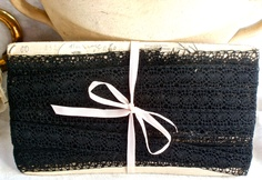 black torchon lace from BrocanteArt