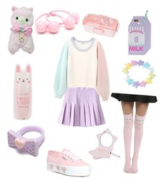""""""".-."""" by maddyeleek on Polyvore featuring Tony Moly, Superga and INC International Concepts"""