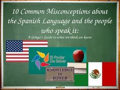 Recently Updated (and always FREE) powerpoint on Misconceptions of Spanish Speakers. Great first week activity for Spanish class.