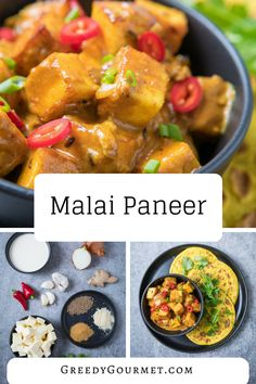 Malai paneer is a cream Indian curry which combines pan-fried paneer with a ginger garlic paste and other Indian spices. Learn how to make it step-by-step. #Recipes #MealIdeas #GreedyGourmet #DeliciousRecipeps #MalaiPaneer Indian Food Recipes, Gourmet Recipes, Ethnic Recipes, Lunch Recipes, Asian Recipes, Indian Curry Paste Recipe, Vegetarian Cheese, Garlic Paste, Cheese Dishes