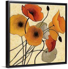 """Pumpkin Poppies II"" by Shirley Novak via @greatbigcanvas available at GreatBIGCanvas.com."
