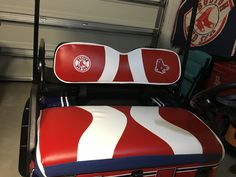 Red Sox golf cart seats accessories Pamzylove.com Golf Cart Seats, Golf Carts, Golf Cart Accessories, Coca Cola, Socks, Future, Red, Future Tense, Coke
