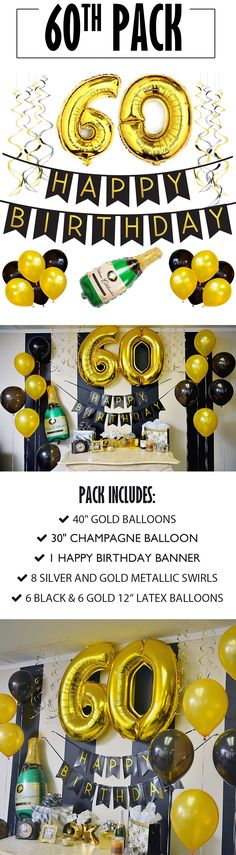 Birthday Banner and Balloon Pack! 40th Bday Ideas, Moms 50th Birthday, 70th Birthday Parties, Happy Birthday Banners, Birthday Party Decorations, Birthday Ideas, Surprise Birthday, Birthday Nails, Party Ideas