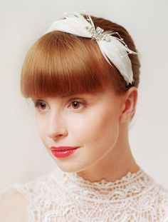 Wedding Hair Accessories / Vintage  feather headband by TheWeddie, €80.00