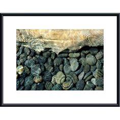 Rock, Pebbles and Water by John K. Nakata Framed Photographic Print   Wayfair