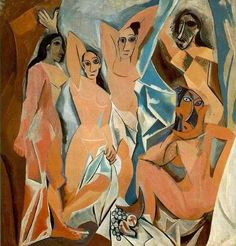 Picasso African Period Artwork - first cubist paiting (http://cubismsite.com/picasso-african-period/)