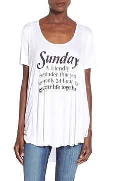 Ten Sixty Sherman 'Sunday' Graphic High/Low Tee available at #Nordstrom