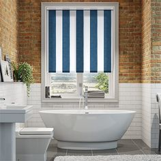 Bathroom Blinds, Coastal Bedrooms, Paris Apartments, Blinds For Windows, Stores, Living Spaces, Blue And White, Curtains, Houses