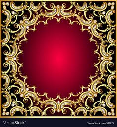 Ornamental Background vector image on VectorStock Royal Wedding Invitation, Wedding Invitation Background, Wedding Background Images, Iphone Background Images, Floral Frames, Gold Frames, Molduras Vintage, Hacker Wallpaper, Bling Wallpaper