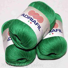 Cheope Grasgrün von Adriafil - Heikes Handgewebtes edel feine 100 % ägyptische Baumwolle für höchste Ansprüche. noble fine 100% Egyptian cotton for high performance. 50g = 135 m LL