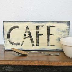 """cafe"" vintage-style sign"