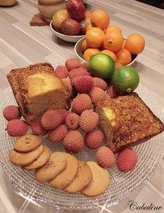 Cake zestes d'oranges, cognac, Pralin accompagné de ses Sorbets citron vert gingembre Rhum et sorbet Lychee !