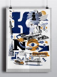 Cartel tipográfico para OKSiR - encargado de la obra.