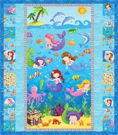 Adorable Quilt from Little Mermaids fabric range www.sewcraftyfabrics.com