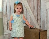 Maddie - Girl's Ruffled Dress Pattern PDF. Girl Kid Toddler Child Sewing Pattern. Easy Sew Sizes 12m-10 included